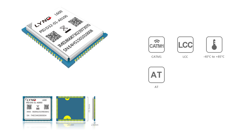 Mobiletek moduł LTE CAT NB-IoT L600