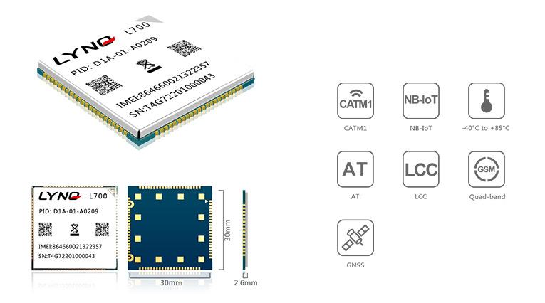 Mobiletek moduł LTE CAT NB-IoT z GPRS i GPS L700E