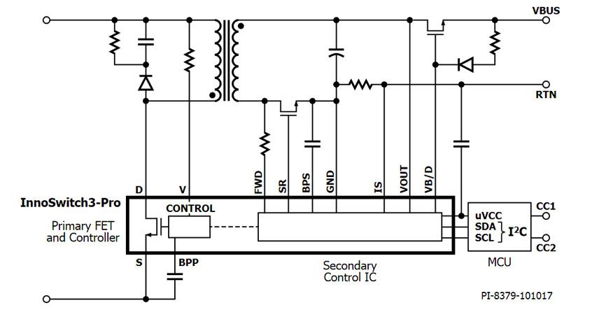 InnoSwitch3-PRO pierwszy na rynku driver przetwornic AC/DC firmy Power Integrations, z możliwością cyfrowego sterowania za pomocą mikroprocesora