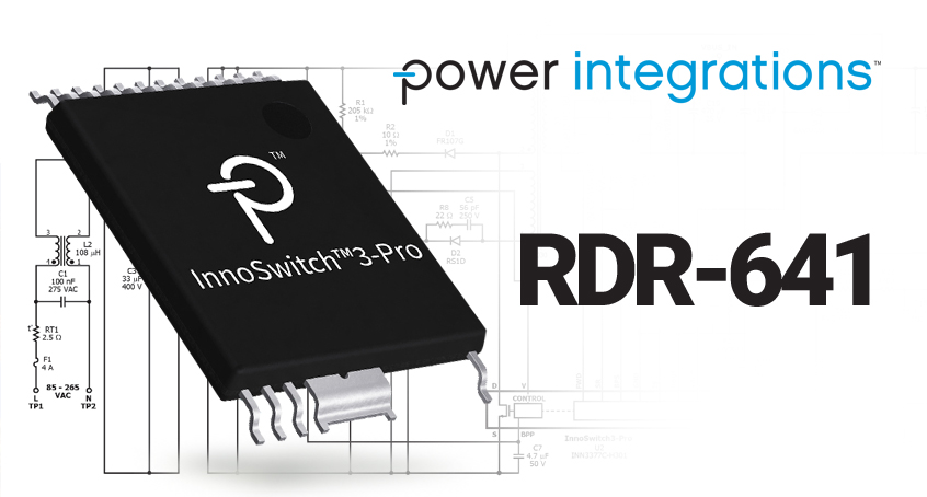 Projekt referencyjny 40W zasilacza bazującego na nowym driverze INN3377C-H301 (z serii InnoSwitch3-PRO), oraz mikrokontrolerze PIC16F18325 firmy Microchip