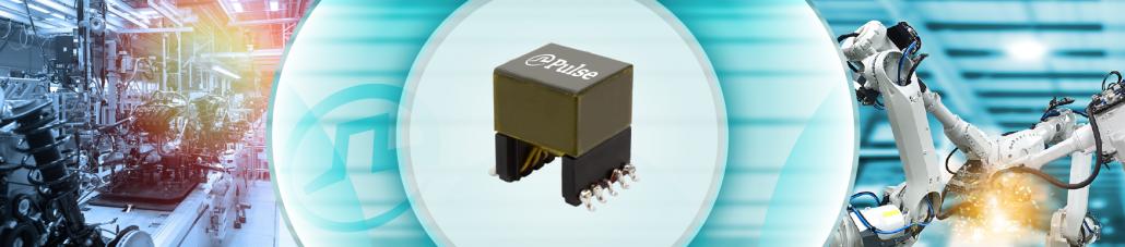 Wzmocnione transformatory mocy EP13R do 24W i 3000Vrms firmy Pulse Electronics