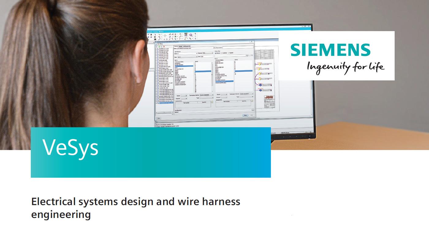 VeSys Design firmy Siemens zapewnia środowisko graficzne do tworzenia niezawodnych schematów połączeń