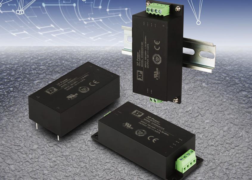 ECE80 nowe zabudowane moduły zasilające firmy XP Power o mocy 80W i wysokiej sprawności dla aplikacji IT