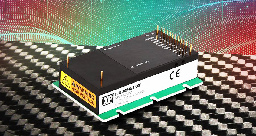 HRL30 pierwsza regulowana seria przetwornic DC-HVDC firmy XP Power z pełną kontrolą zarówno napięcia, jak i prądu