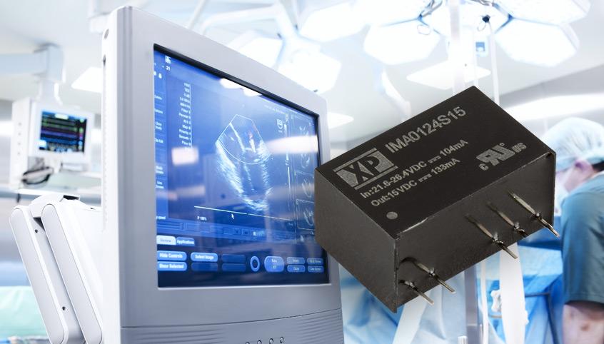1W przetwornice IMA01 w obudowie SIP7 z certyfikatami medycznymi firmy XP Power