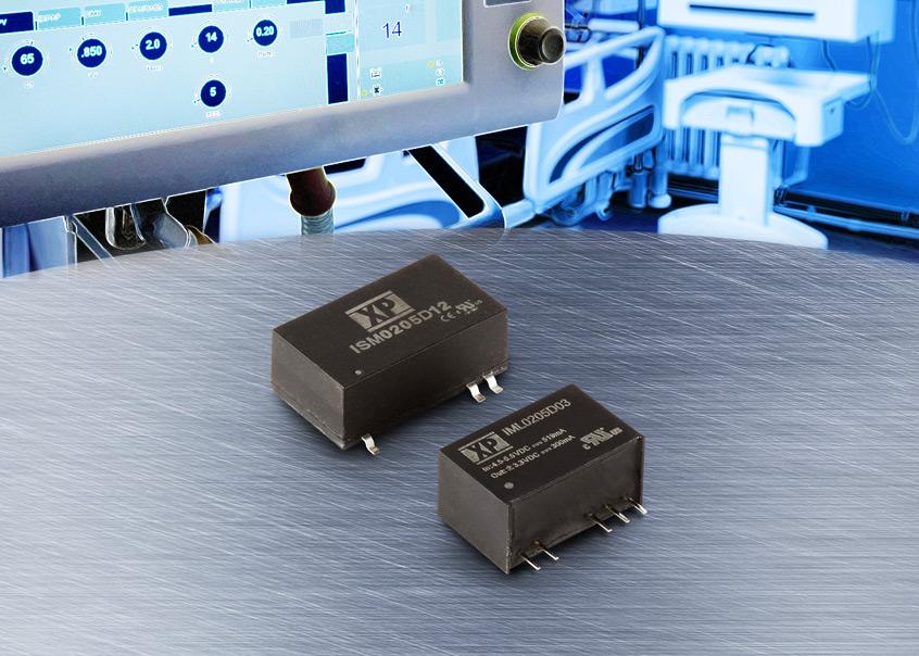 IML02 oraz ISM02 nowe miniaturowe 2W przetwornice DC-DC firmy XP Power dla aplikacji medycznych EN60601-1