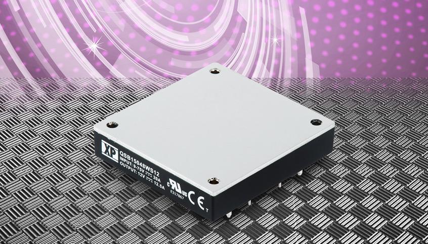 Wydajne przetwornice QSB150 o szerokim napięciu wejściowym i mocy do 150W firmy XP Power