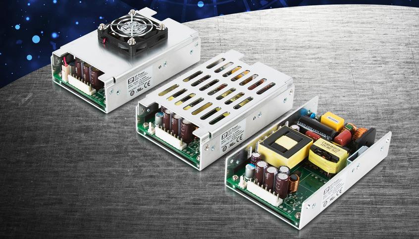 Wysokiej sprawności, energooszczędne zasilacze Open Frame serii UCP225 o mocy do 225W firmy XP Power